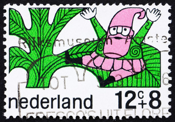 Postage stamp Netherlands 1968 Goblin, Fairy Tale Character