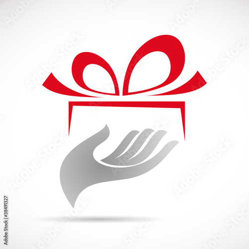 Logo give a gift # Vector