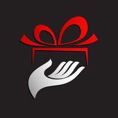 Logo give a gift # Vector