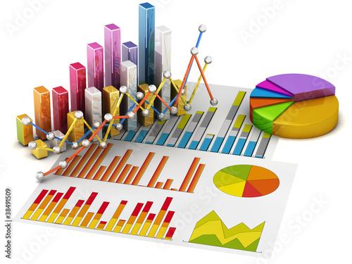 Graph diagram pie chart 3d