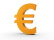 3d Icon Eurozeichen orange