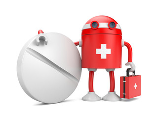 Medical bot with pill