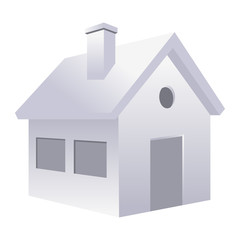 Home concept. House isolated over white background