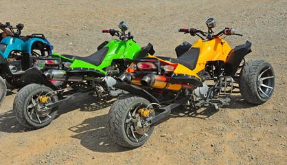 motor in desert