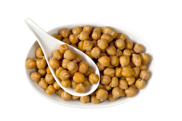 Chickpeas over White