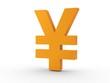 3d Icon Yen orange