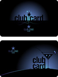 Club card design template.