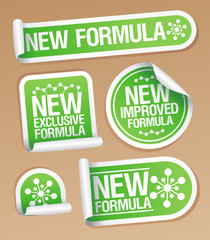 New Formula stickers.