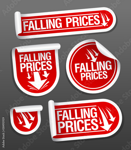 Falling Prices stickers.
