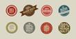 8 retro vintage sticker