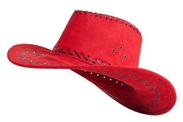 Red cloth cowboy hat