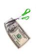 Dollar und Schere