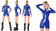 Blue PVC Mini Catsuit
