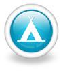 "Light Blue Icon ""Camping Symbol"""
