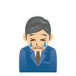 ビジネスマン C 表情2 泣く