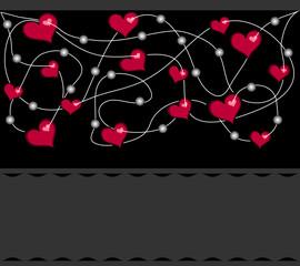 Сердечки на черном фоне