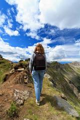 escursionista - female hiker on Dolomites