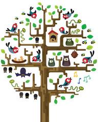 tree with inhabitants