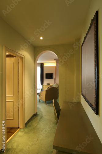 interior luxury apartment, comfortable suite,corridor