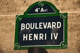 Boulevard Henri IV à Paris poster