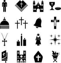 Piktogramme der katholischen Religion