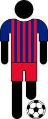 Pictogram of a football player