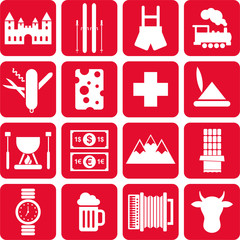 Switzerland pictograms