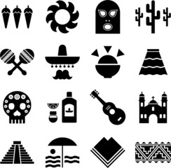 Mexico pictograms