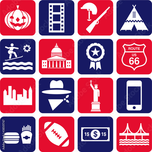 USA pictograms