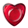 Red heart frame made of glass