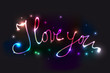I love you Neon Karte