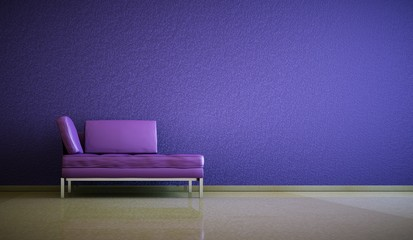 Wohndesign - Ledersofa lila