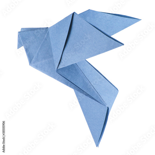 Deurstickers Geometrische dieren isolated origami dove
