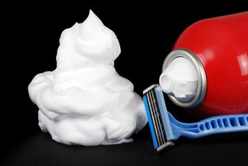 Shaving cream razor and can