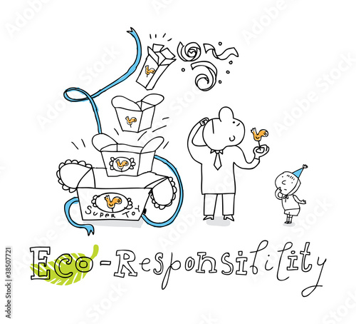 Eco responsibility, vector drawing
