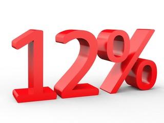 3d Schrift 12% rot