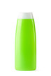Green plastic bottle for shampoo