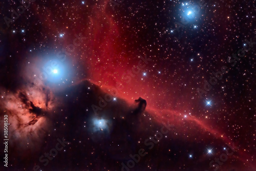 Papiers peints Univers Horsehead Nebula and Flaming Tree in the Constellation Orion