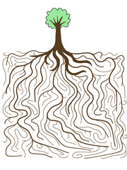 Life - tree with root system