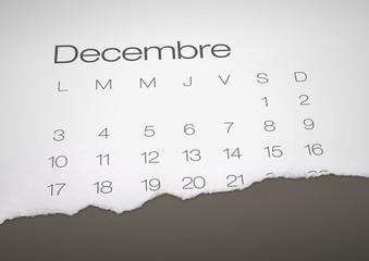 21 decembre 2012 calendrier déchiré