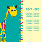 giraffe in vector format, birthday, holiday