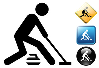 Curling pictogram and signs