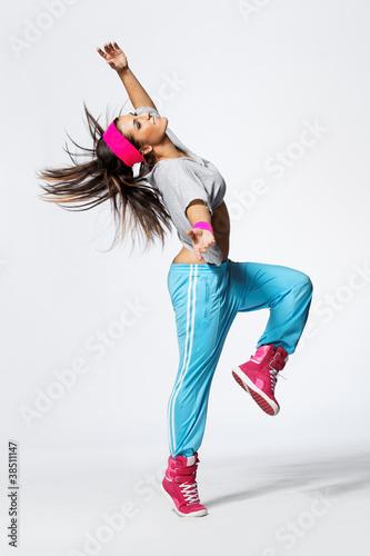 Fototapeta taniec - śmiać się - Zdrowie / Gimnastyka / Taniec