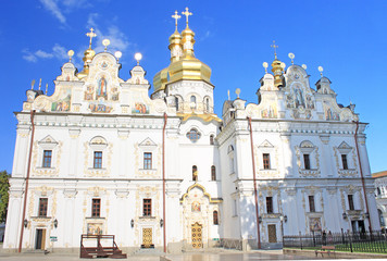 View of Assumption Cathedral in Kiev Pechersk Lavra, Ukraine