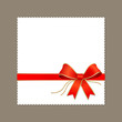 Modern white paper, red ribbon vector illustration
