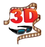3D Technology and entertainment poster