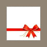 Modern white paper, red ribbon vector illustration