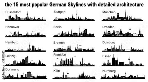 Deutschland bekannte Städte - Skylines