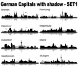 Skylines Germany, with Shadow - Set 1