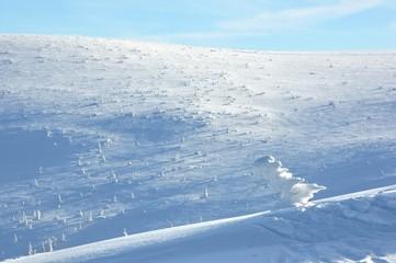 Zimowy krajobraz - widok ze Szrenicy, Szklarska Poręba